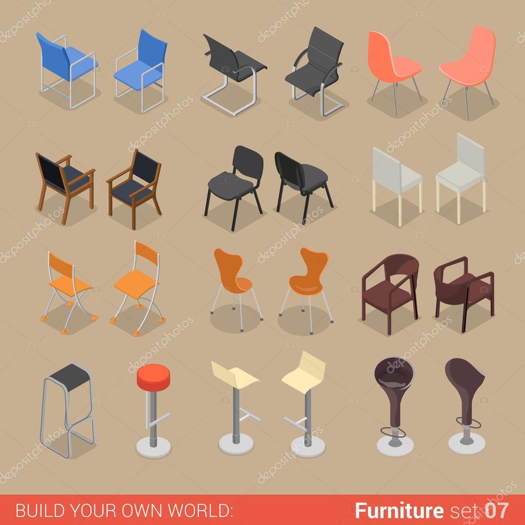 conjunto de muebles de restaurante — Archivo Imágenes Vectoriales ...