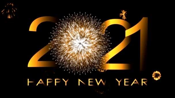 Šťastný nový rok 2021 krásná pohybová grafika