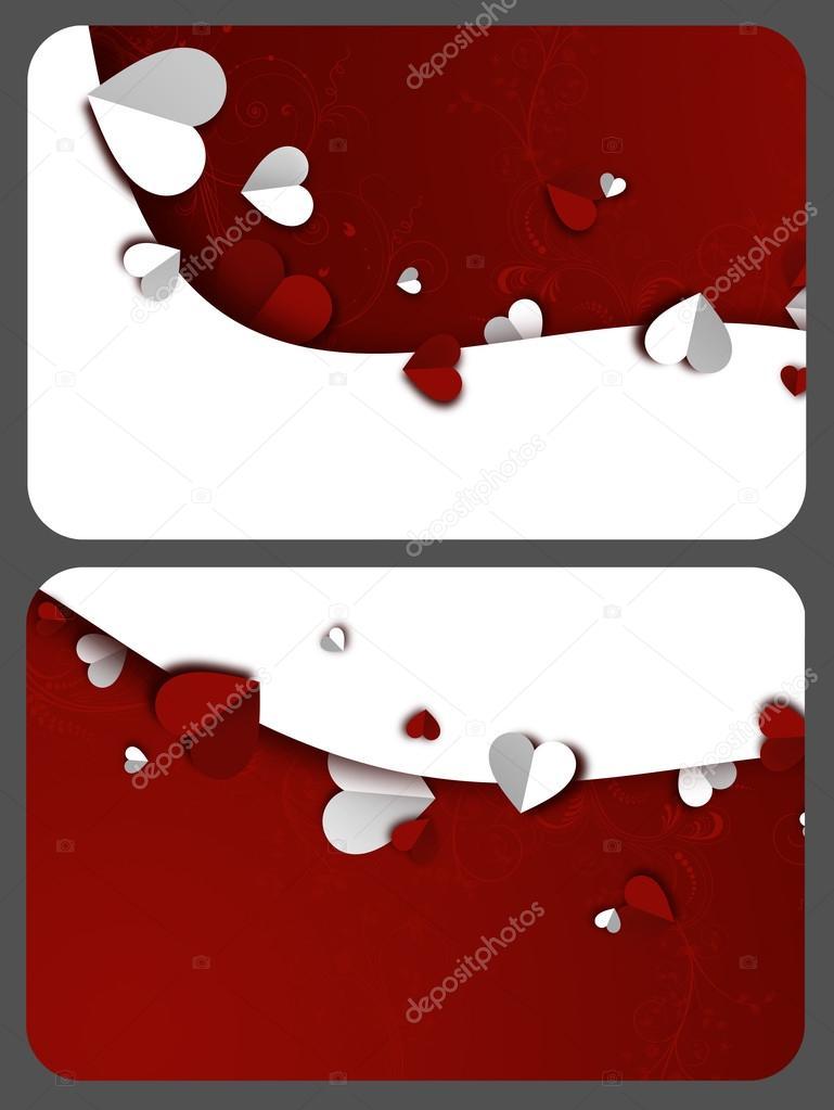 Vorlagen von Geschenk-Karten zum Valentinstag — Stockfoto © simona88 ...