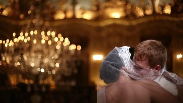 Beautiful wedding couple together