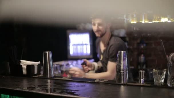 Bartender ignites bar