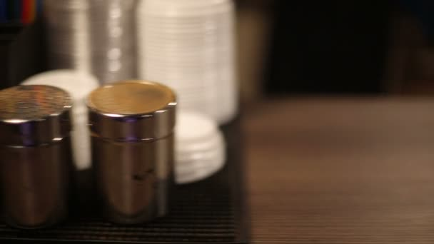 Sugar and a cup of fresh coffee. HD shot with slider