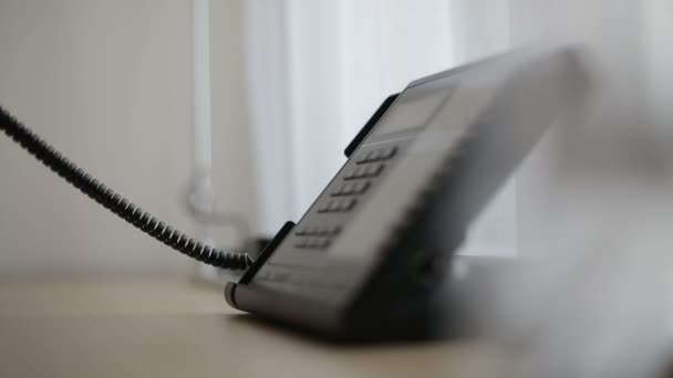 Egy hotel szobában, vagy a Hivatal telefon. Közelről