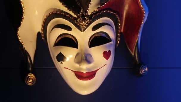 Közelről felvételeket egy elegáns venecian farsangi maszk