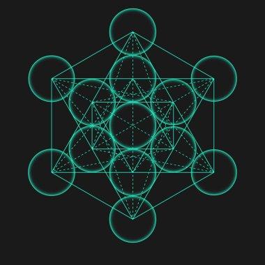 Metatron's Cube.Geometric Symbol