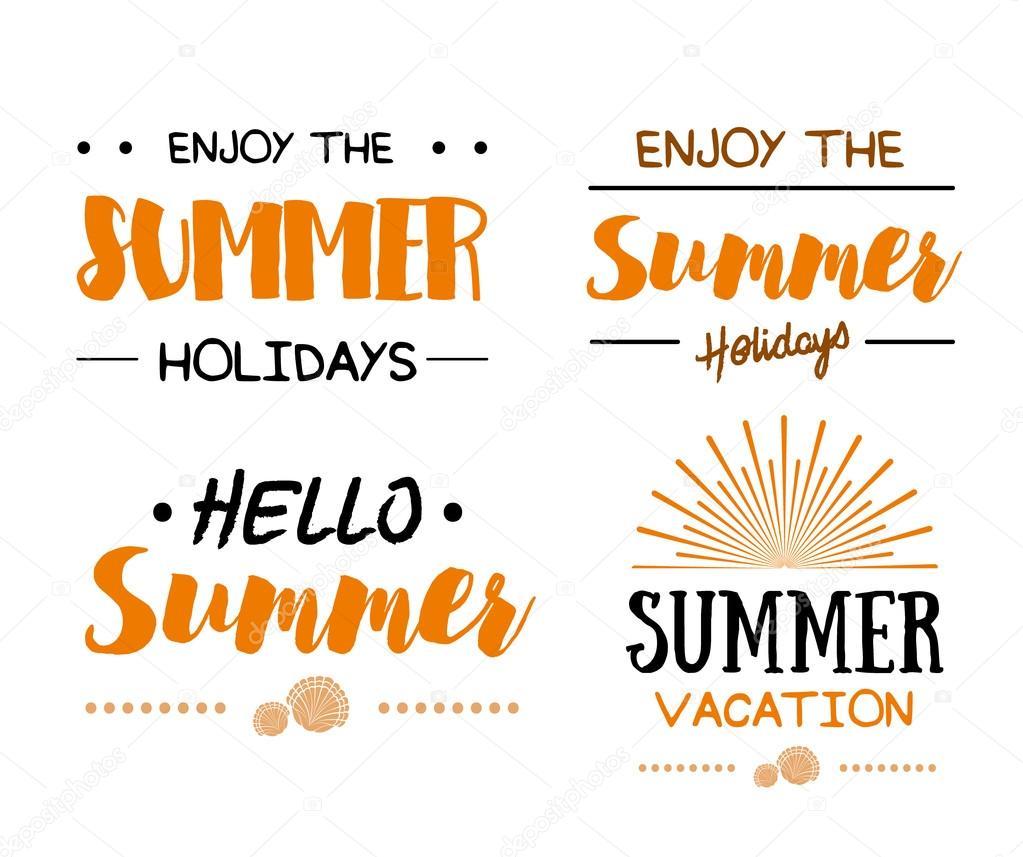 Conjunto de logotipos plantillas de horario de verano — Archivo ...
