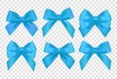 Photo blue Ribbons set
