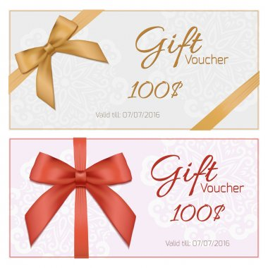Voucher with floral pattern