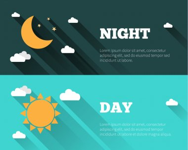 Day and night sky banners