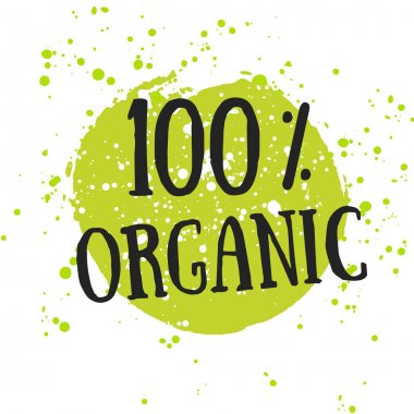 Eco icon 100 percent organic