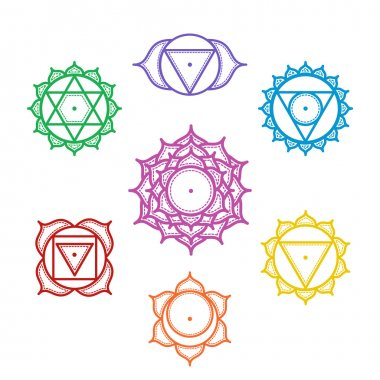Set of Indian ornamental chakras.