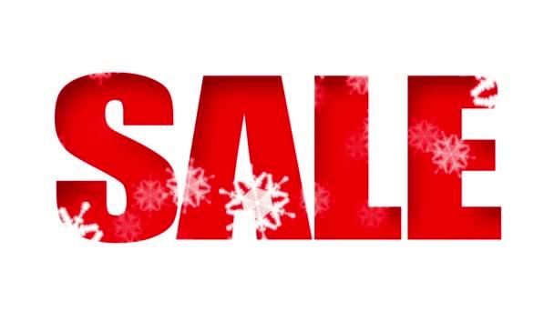 prodej textu svátky sníh (smyčka)