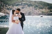 Fényképek Csak házaspár gyaloglás kis öbölben