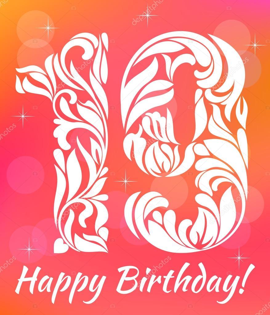 19th birthday Stock Vectors, Royalty Free 19th birthday ...