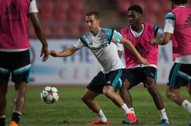 Eden Hazard (L) of Chelsea FC in action