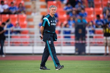 Manager Jose Mourinho of Chelsea walks