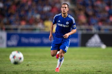 Eden Hazard of Chelsea in action