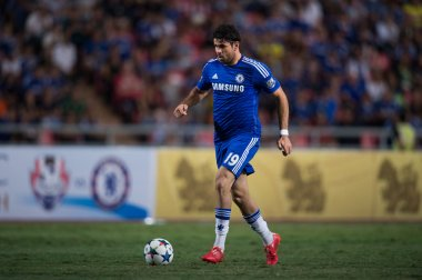 Diego Costa of Chelsea in action