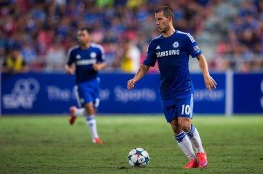 Eden Hazard of Chelsea for the ball