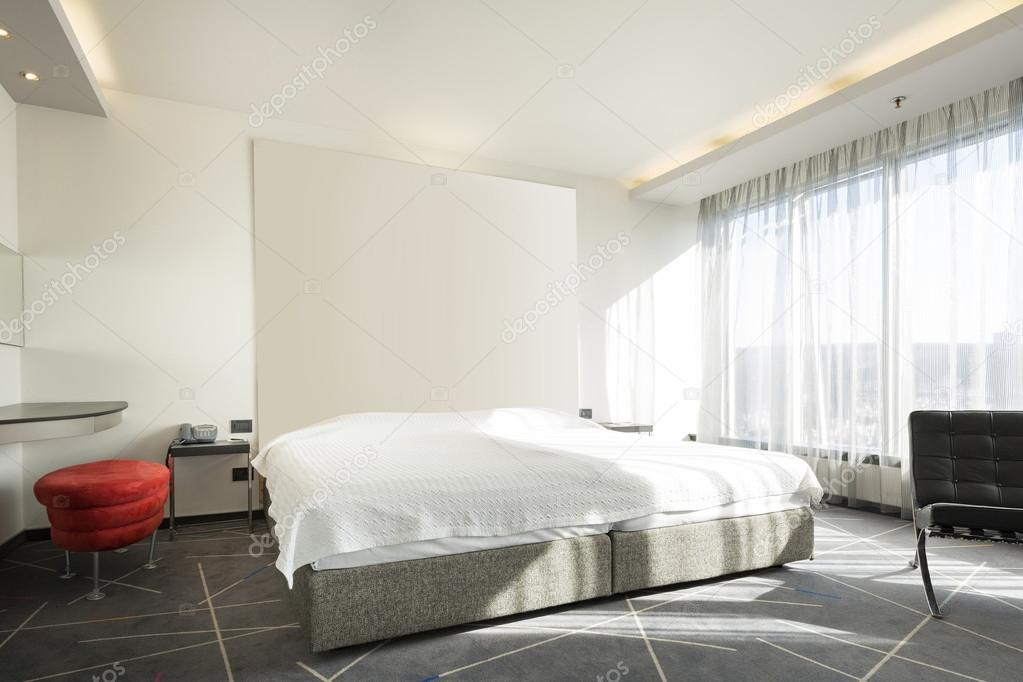 Moderne Schlafzimmer Einrichtung Am Morgen U2014 Stockfoto
