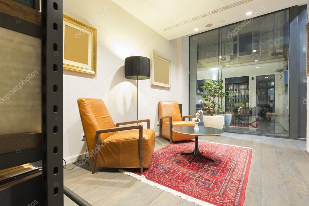 Luxus Hotel-Interieur, Lobby, Ruheraum — Stockfoto © rilueda #111526252