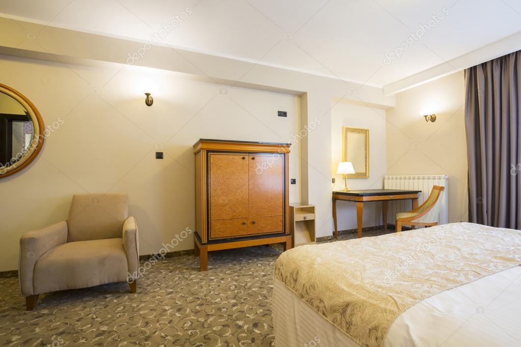 Slaapkamer Hotel Stijl : Tweeling slaapkamer stock afbeelding afbeelding bestaande uit