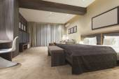 Photo Spacious luxury bedroom interior