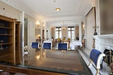 Interior of a luxury restaurant