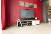 Photo Big TV in modern apartment