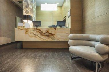 Elegant marble reception desk