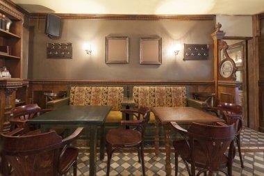 Rustic pub interior