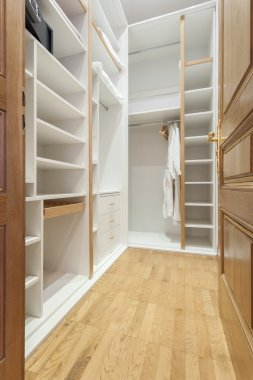 Empty wardrobe room