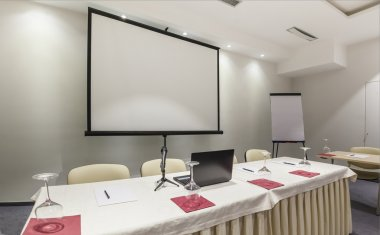 Head table in conference room