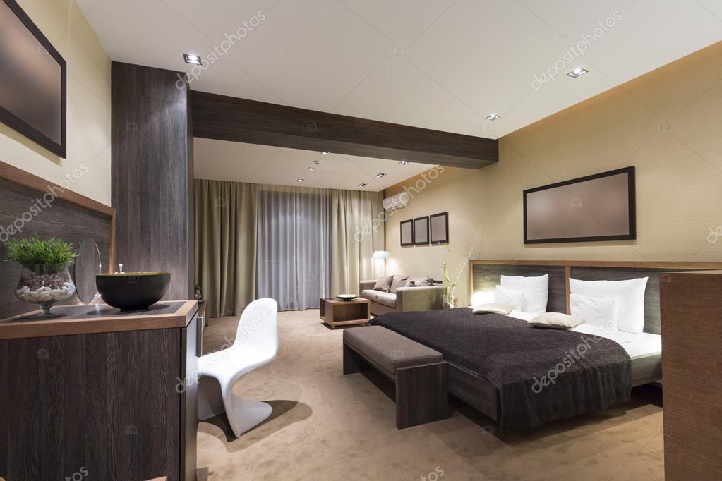 Luxe Slaapkamer Interieur : Moderne luxe slaapkamer interieur u stockfoto rilueda
