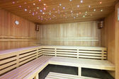Moderní saunu s okolního světla
