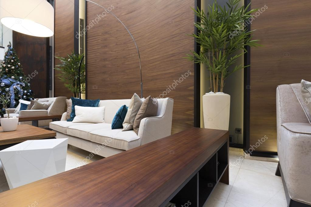 Modern hotel lobby interior u2014 stock photo © rilueda #65046447