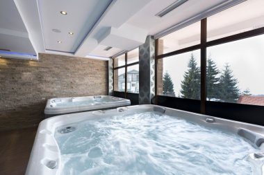 Hot tubs in spa center