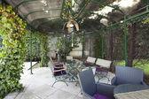 Pavilon, kerti asztal és székek