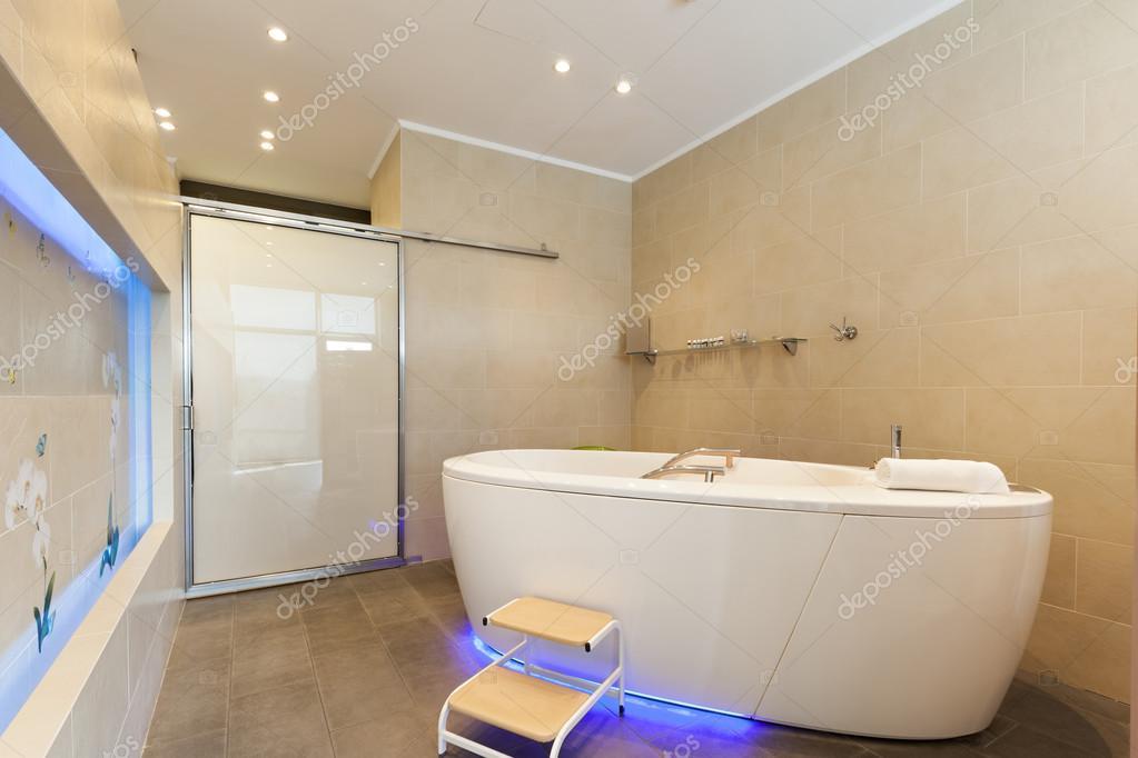 Big bath tub in spa center — Stock Photo © rilueda #71495817