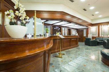 Classic style hotel lobby interior