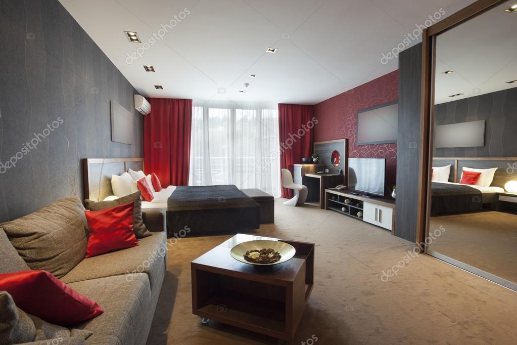 Modern no walls apartment interior