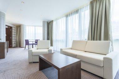 Modern bright living room interior