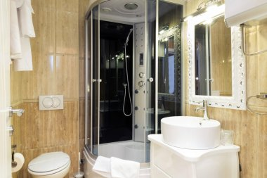 Elegant hotel bathroom interior