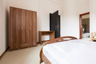 Interior of an elegant hotel bedroom