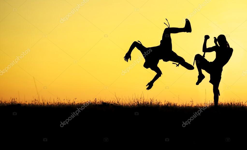 muay thai sport silhouette