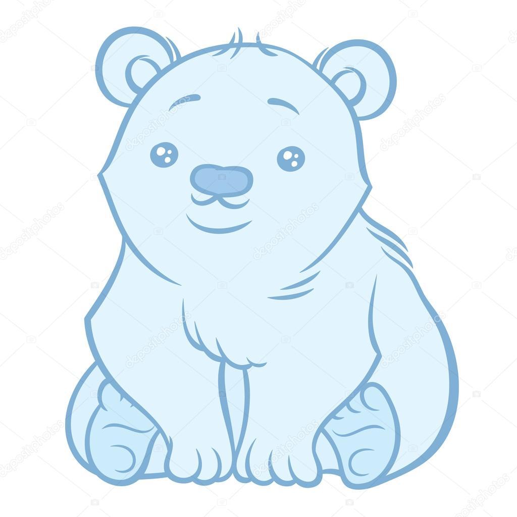 Süße Eisbär — Stockvektor © AnnaSuchkova #123380348