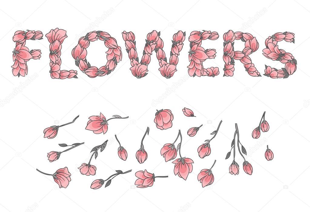 Надписи из цветов фото
