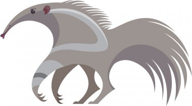 stylized image of cute anteater