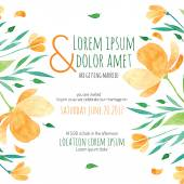 Svatební sprcha pozvánky s šablonou vektor oranžová květina