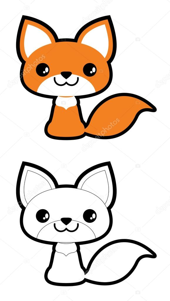 funny cartoon fox